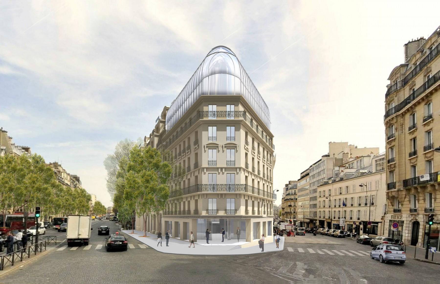 immeuble de bureaux boulevard haussmann paris moatti rivi re. Black Bedroom Furniture Sets. Home Design Ideas