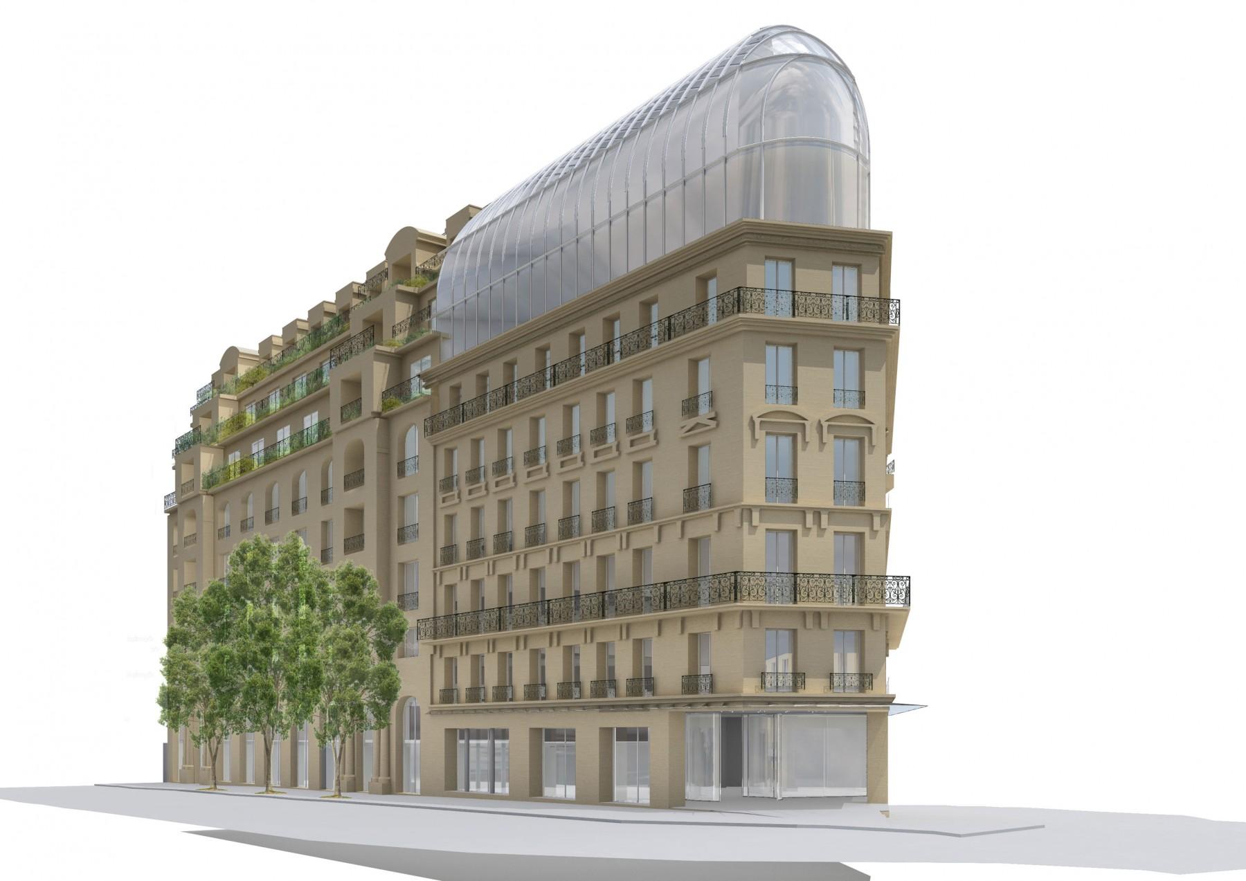Immeuble de bureaux boulevard haussmann paris moatti for Immeuble bureaux hqe
