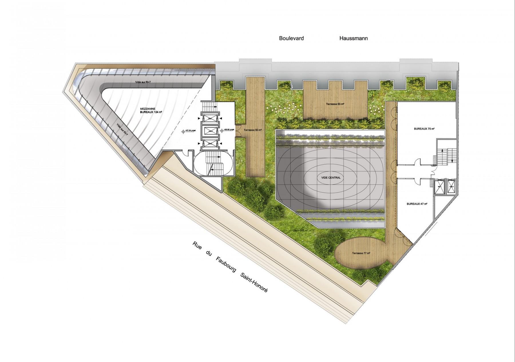 Immeuble de bureaux boulevard haussmann paris moatti & rivière