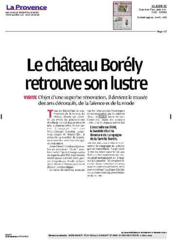 Musée Borély – LA PROVENCE