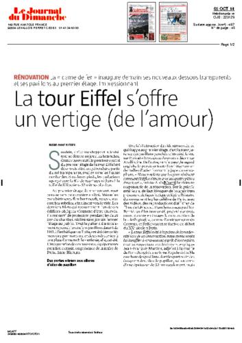 Tour Eiffel – JOURNAL DU DIMANCHE