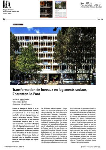 Logements Charenton-le-Pont – D'A