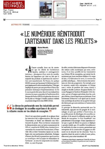 Alain Moatti – LES CAHIERS TECHNIQUES
