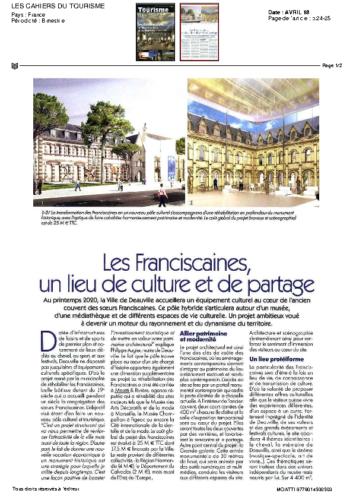 Les Franciscaines – LES CAHIERS DU TOURISME
