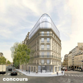 Office building, Boulevard Haussmann, Paris